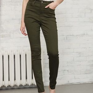 NWT RW&CO High Waist Natalie Jegging Pant in Rosin Green   S